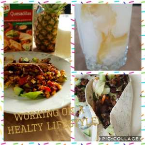 working on healthy lifestyle