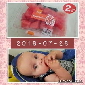 eerste keer watermeloen