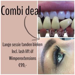 combideal lash lift en tanden bleken maggies