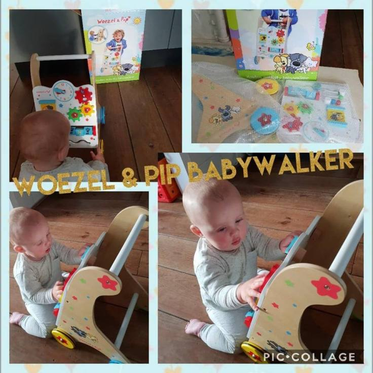 woezel en pip babywalker collage