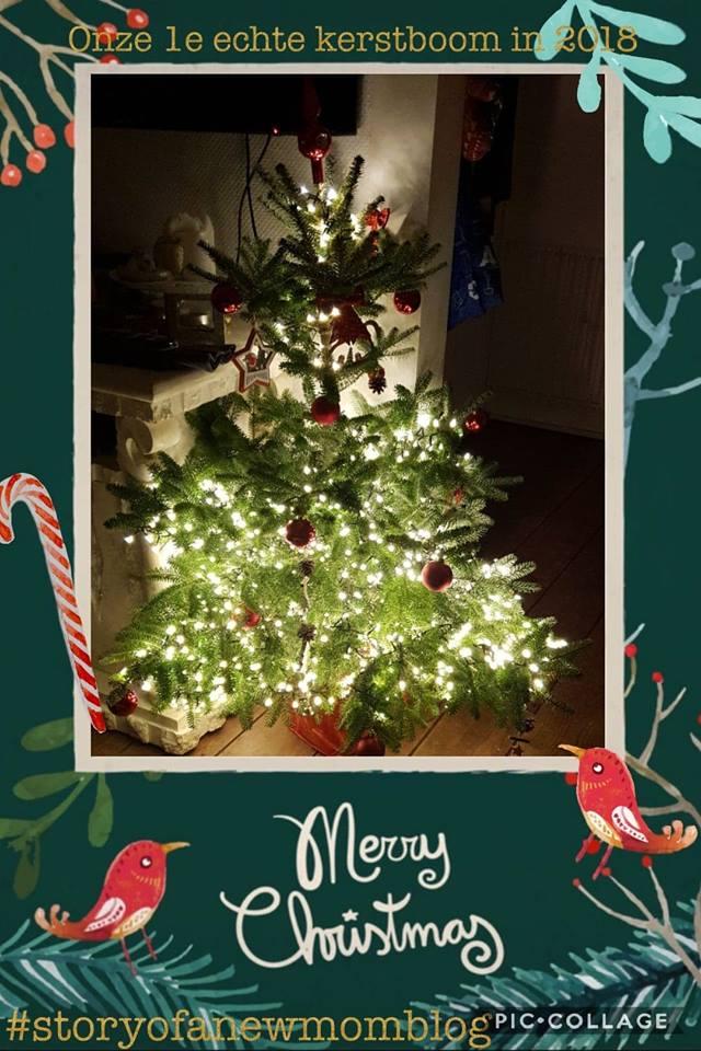 kerstboom versierd