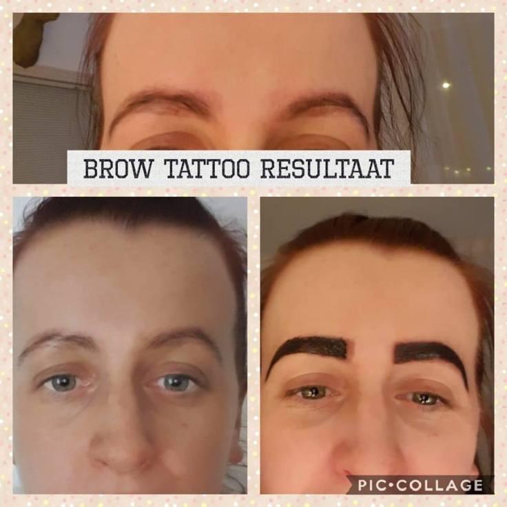 brow tattoo resultaat